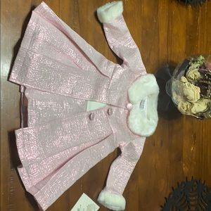 Pink holiday dress 18 months brand new NWT